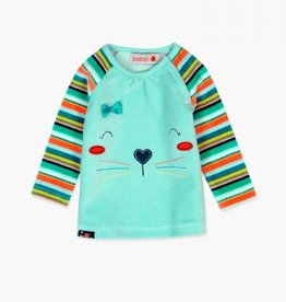 Boboli Plush Pinafore Kitten Dress