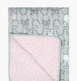 Boboli Fleece Bunny Blanket- pink