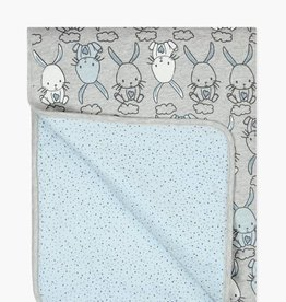Boboli Fleece Bunny Blanket- Blue