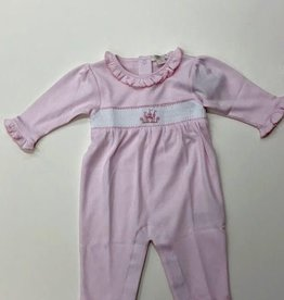Pink Hand Smocked Footie