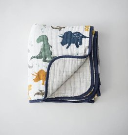 Little Unicorn Cotton Muslin Quilt- Dino Friends