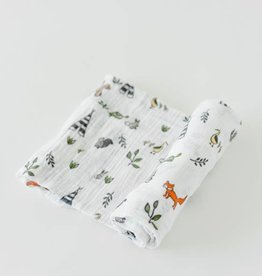 Little Unicorn Cotton Swaddle- Forest Friends