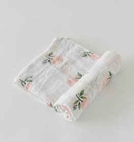 Little Unicorn Cotton Muslin Swaddle- Watercolor Roses