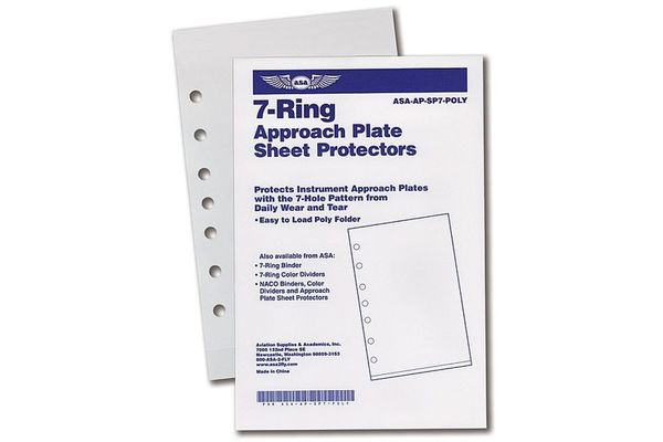 7-Ring Approach Plate Sheet Protector (Easy Load)