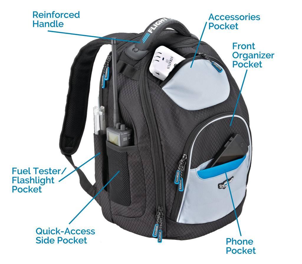 Sporty S Pilot Flight Gear Hp Tailwind Backpack Wayman Supplies