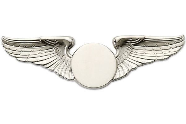 Pin: Classic Wings Silver