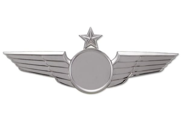 Pin: Modern Wing Silver Star,