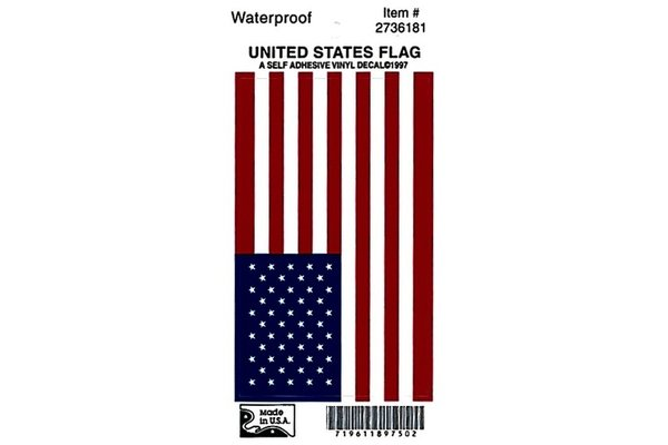 Sticker: Vinyl USA Flag