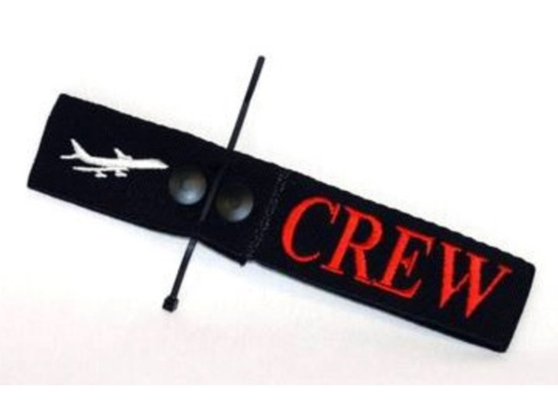 Crew Tag Embroidered On Canvas