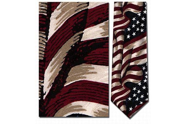 Tie: American Flag Silk
