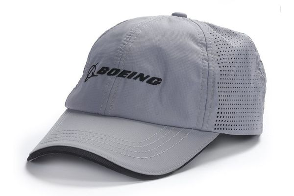 The Boeing Store Cap: Boeing Logo Perforated Grey