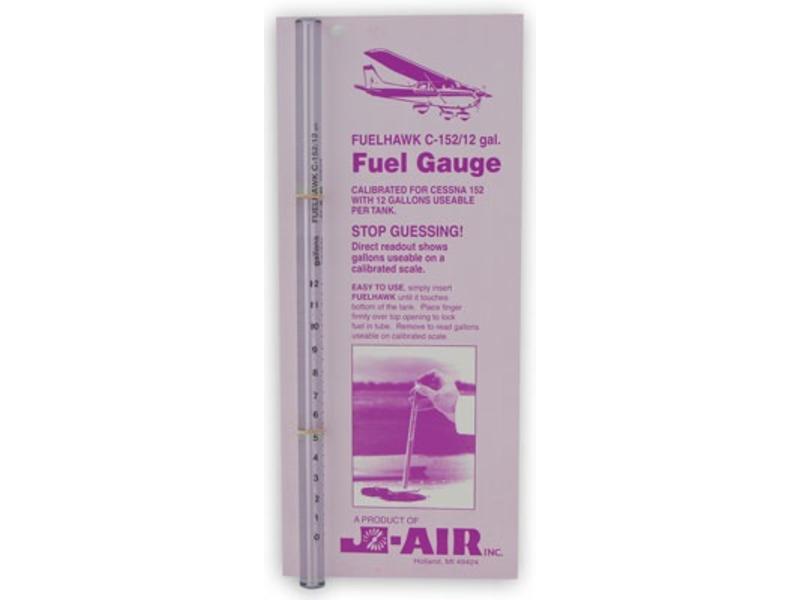 Fuel Gauge: C152 Fuelhawk 12 Gallons