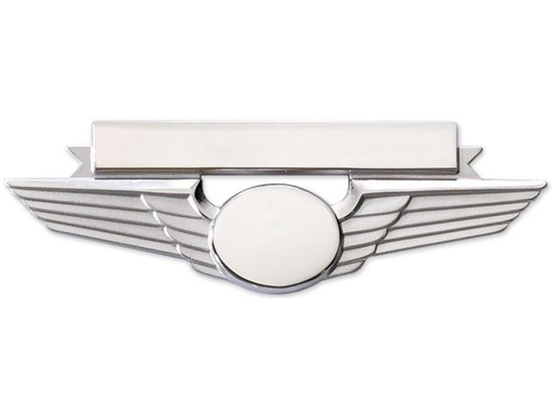 Pin: Wing w/ Nametag Silver