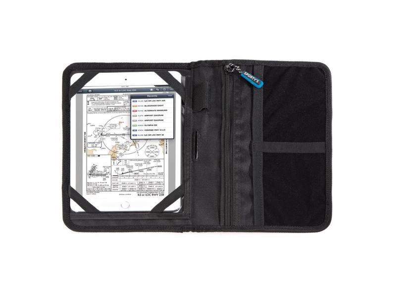 Sporty's Pilot Shop Kneeboard: Flight Gear HP Bi-Fold, Clipboard and iPad Mini