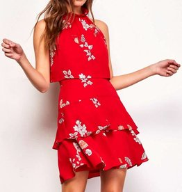 BB Dakota Cadence Printed Ruffle Dress