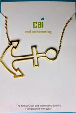 Cool and Interesting Large Sideways Symbol Necklace