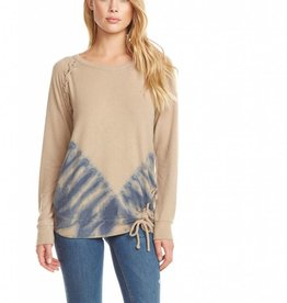 Chaser Raglan Lace Up Pullover