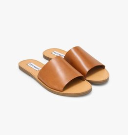 Steve Madden Grace Cognac Leather Slide Sandals