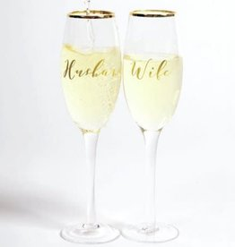 8 Oak Lane Champagne Glass Set of 2