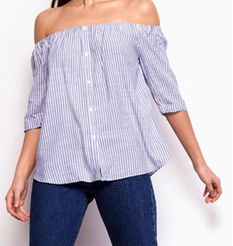 BB Dakota Audrina French Blue OTS Button Down