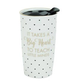 Mary Square Ceramic Travel Tumbler