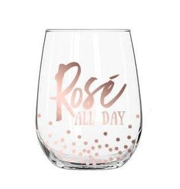 Mary Square Rose All Day Wine Glass