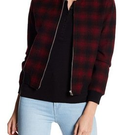 BB Dakota Alessia Plaid Bomber Jacket