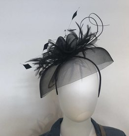 Dorfman Pacific Kate Crinoline & Feather Fascinator
