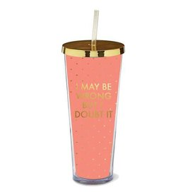 Mary Square Straw Tumbler