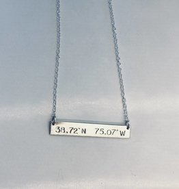 Lotus Jewelry Studio Rehoboth Beach Silver Latitude/Longitude Necklace