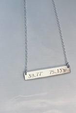 Lotus Jewelry Studio Lewes, DE Latitude/Longitude Necklace Silver
