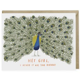 Emily McDowell Emily McDowell Card Birthday Card Hey Girl Peacock