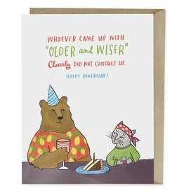 Emily McDowell Emily McDowell Card Birthday Card Older and Wiser