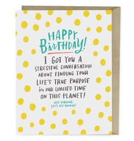 Emily McDowell Emily McDowell Card Birthday Card Stressful Conversation