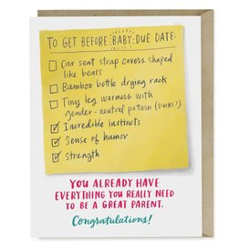 Emily McDowell Emily McDowell Card Baby Due Date Checklist