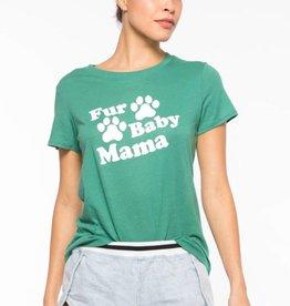 Sub_Urban Riot Fur Baby Mama Loose Tee Evergreen