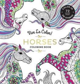 hachette Book Group Vive Le Color! Horses (Adult Coloring Book): Color In