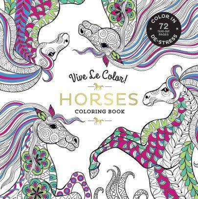 Hachette Book Group Vive Le Color Horses Adult Coloring In