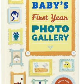 hachette Book Group Baby's First Year Photo Gallery: Album with 12 Monthly Photo Cards