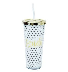Mary Square Straw Tumbler Bride Polka-Dot