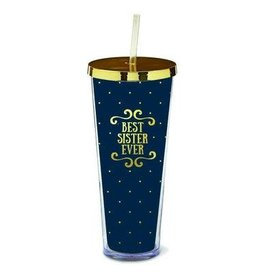 Mary Square Straw Tumbler Best Sister Ever