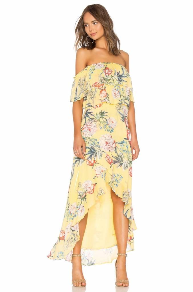 BB Dakota Madison Ruffled High Low Dress