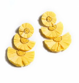 Shiraleah Gaetana Earrings, Yellow