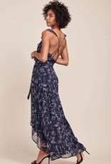 BB Dakota Kelli Wrap Maxi Dress in Vintage Blue
