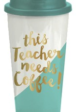 Slant Collections Flip Lid Tumbler 16oz - Teacher Needs Coffee