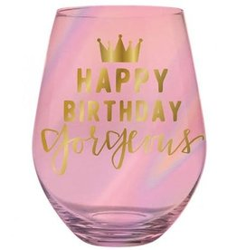 Slant Collections Stemless Wine 30oz - Happy Birthday Gorgeous