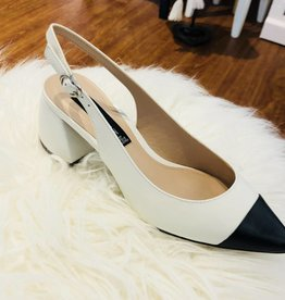 Steve Madden Agent Block Heel in White