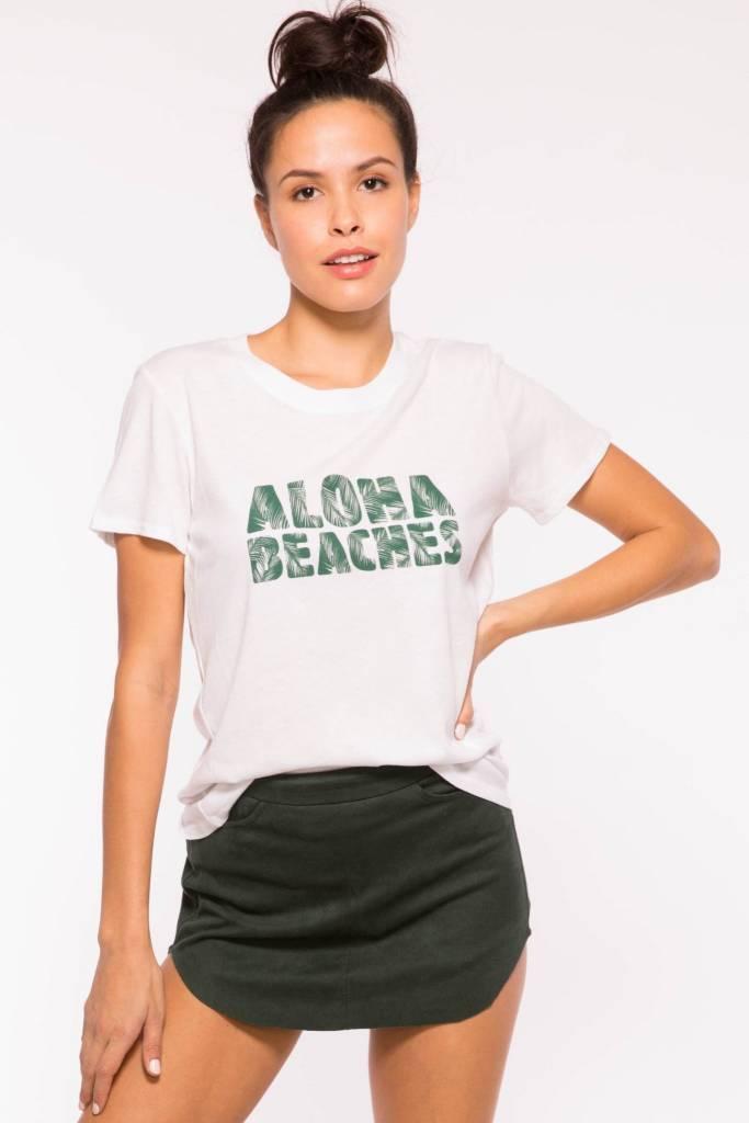 Sub_Urban Riot Aloha Beaches Loose Tee- White