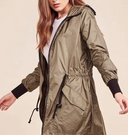BB Dakota Flynn Nylon Anorak Jacket in Sage