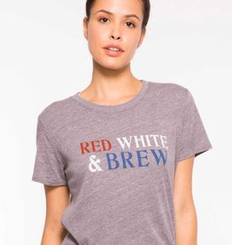 Sub_Urban Riot Red White & Brew Loose Tee in Heather Grey
